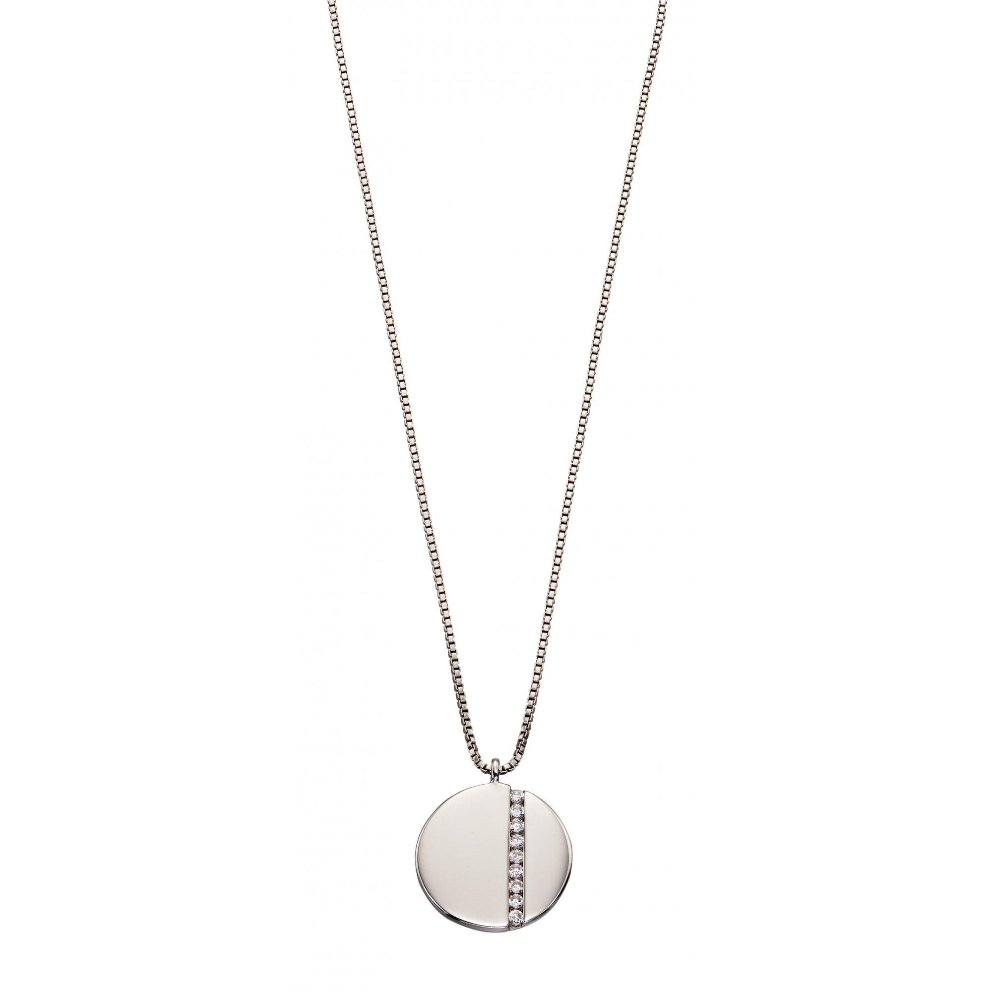 Sterling Silver CZ Pendant /& Chain